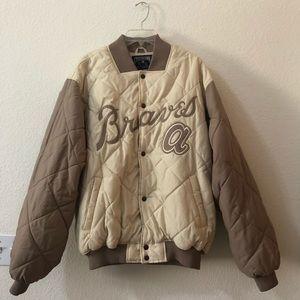 ⚾️ Like New Vintage Braves Majestic Puffy Coat